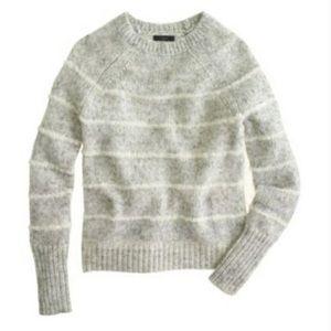 J CREW Wool Blend Mohair Striped Sweater M